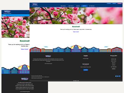 WEEP - Forms Acknowledgement Webpage forms form bazamiyat women empowerment women ux design uxdesign ux website web user interface design user interface ui web  design webdesign design