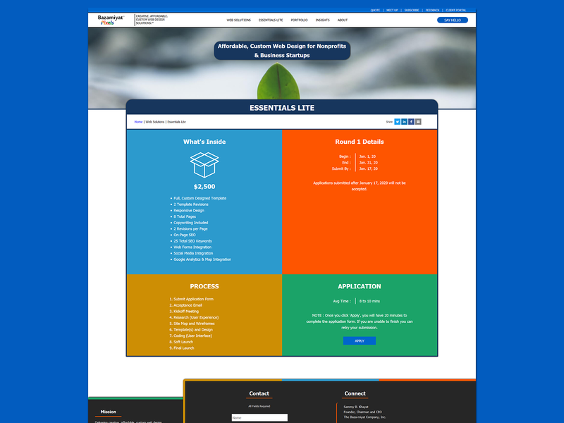 Essentials Lite - Web Page