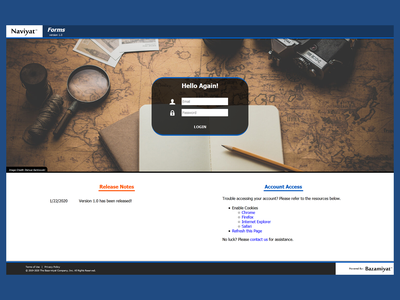Naviyat Forms - Login View uiux bazamiyat webapplication webapp design webapp designinspiration ux design uxdesign ux user interface design user interface ui web  design webdesign design