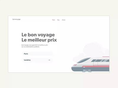 "Bonvoyage   ""Goodtrip"" Travel booking travel booking user inteface uiux product design web exprience digital animation adobe xd"