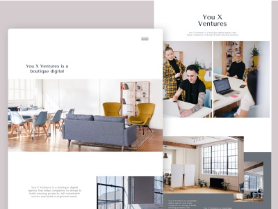 You X Ventures - Landing Page product design webdesign pictures digital user interface ui ux sketch design