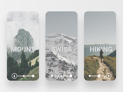 Hiking mountain adobe xd mountain ui mobile interface design application