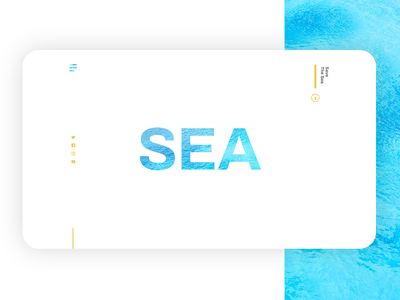 Save The Sea - Landing page designs web simplicity adobe xd design ux ui interface