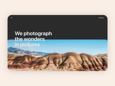 Photograph   Home Page adobe xd photo digital experience user interface ux ui product design webdesign