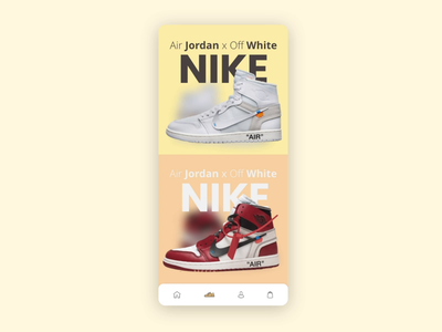 Sneakers app   Open & close user interface experience digital adobe xd uiux animation product design mobile