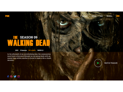 UX/UI Design. Website The Walking Dead - Landing Page.