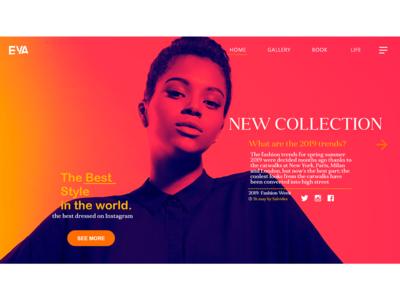 UX/UI Design Fashion Website Option Two
