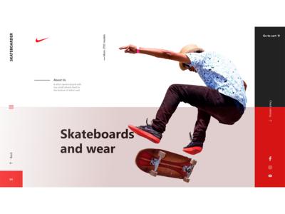 Concept UX/UI Website Skateboarding