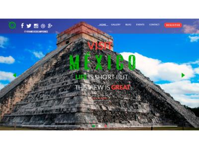UX/UI Design Website Visit Mexico Option 1