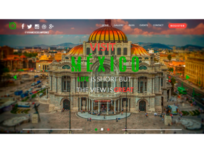 UX/UI Design Website Visit Mexico Option 2