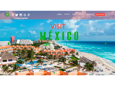UX/UI Design Website Visit Mexico Option 3