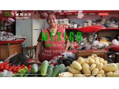 UX/UI Design Website Visit Mexico Bonus Option