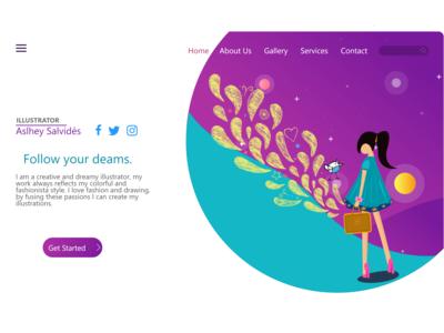 UX/UI Design Website Illustrator Blog