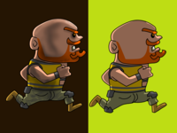 Angry orange beard man