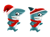 Shark as Santa