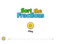 Sort The Fractions Mini Game Screen
