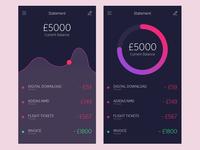 Statements App interface