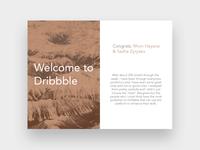 Card exploration / Dribbble Invite winners