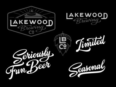 Lakewood Brewing Company Logo lettering custom type logotype logo branding design