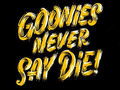 GOONIES! goonies procreate ipad lettering