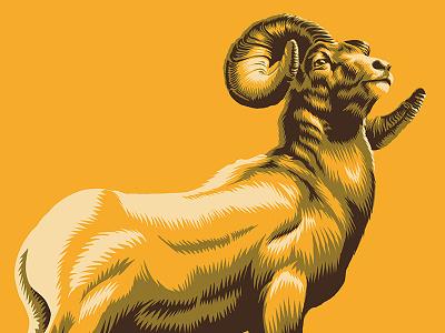 Ram Concept vector concept illustration ram