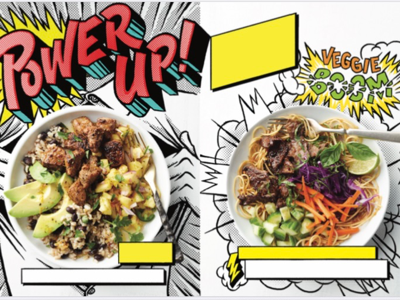 Power Up Article Spread 1 comic book lettering illustration