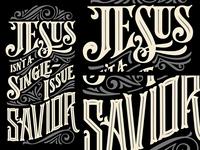 Jesus Isn't a Single Issue Savior