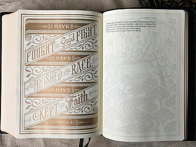 Illuminated Bible Timothy illustration gold illuminated bible hand lettering