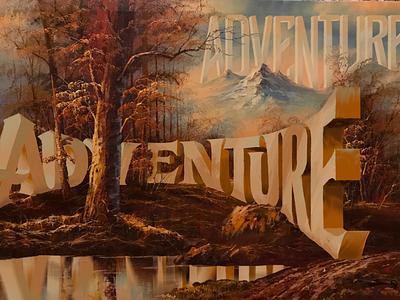 Adventure a Wayne White Tribute digital painting ipad lettering