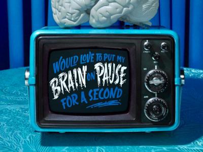 #NoFilter tv hand-lettering brain sci-fi lettering