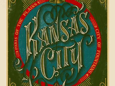 Kansas City, MO arrow crown corn lettering hand-lettering