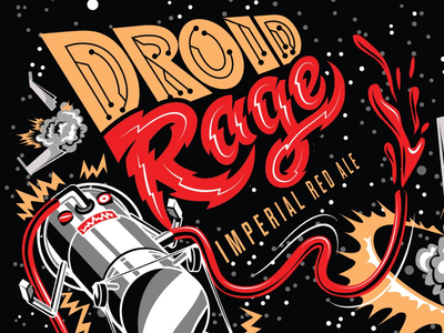 Droid Rage Lakewood Brewing robot imperial red ale droid rage