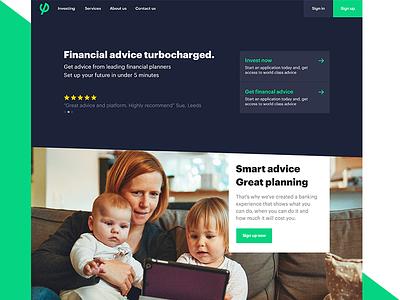 FinTech ifa financial landing page dashboard ux ui fintech