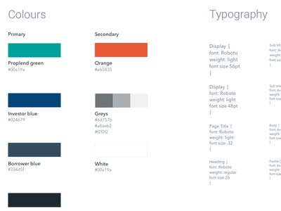 Style guide and branding colours brand guidelines style guide mobile web ui branding