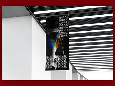 GlitchPixel Flag Mocup typography mockups mockup ux ui illustration flat branding 2d design