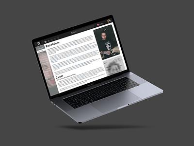 Wikipedia Refont Mockup web mockups mockup typography minimal illustration 2d flat branding design