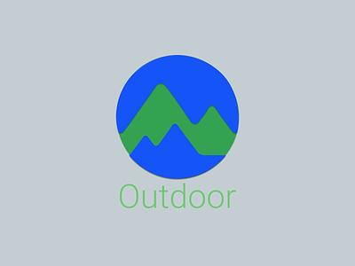 Google Outdoor Logo design vector icon flat branding app typo logo