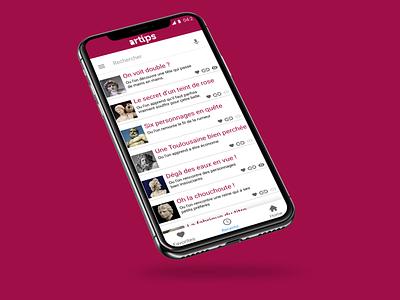 Artips App Refont Mockup app ux ui mockup 2d flat branding design