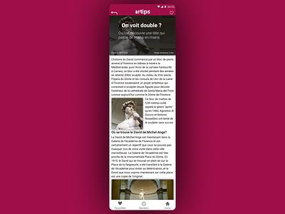 Artips tips page remake flat ux ui branding design phone artips app refont