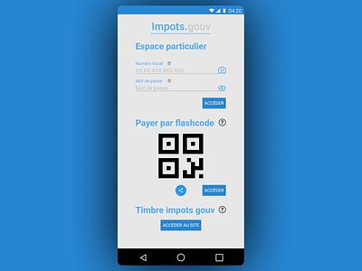 Impots.gouv Remake france web app ui ux typography minimal 2d design