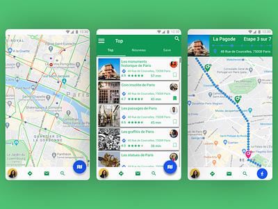 Google Outoor App google maps app ux ui 2d branding flat design google