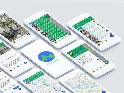 Google Outdoors Mockup mockup app ux ui 2d branding flat design