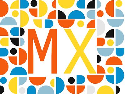 Design to the MX web vector illustration typography minimal 2d branding flat design