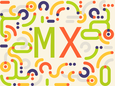 Design to the MX logitech contest vector illustration typography minimal branding flat design