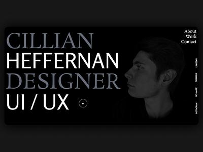 Cillian Heffernan Portfolio 2021 design ui typography minimal figma designer 2021 heffernan