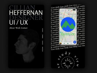 Cillian Heffernan Portfolio 2021 ux ui typography branding design 2021 porfolio heffernan cillian