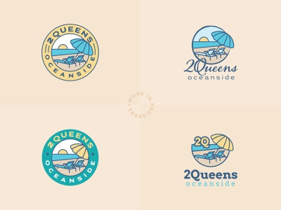 2Queens Oceanside Logo Design branding design vector typography digital design logo logo design illustration branding graphic design