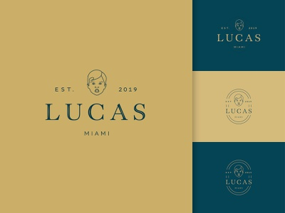 Lucas Est. 2019 vector brand identity branding design digital logo design logo design illustration branding graphic design