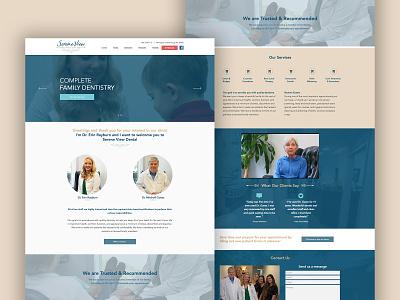 Serene View Dental Care Website Design logo logo design branding graphic design layout wix web designer web design design mockup template mockup design mockup website builder website concept website design website
