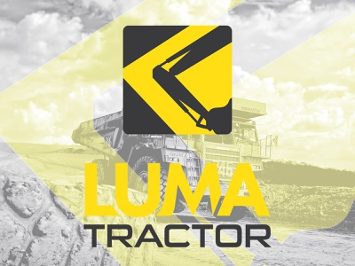 Luma Tractor Logo graphic design logo graphic design branding illustration icon design typography icon